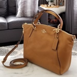 NEW! Coach Small Kelsey Satchel in Light Saddle